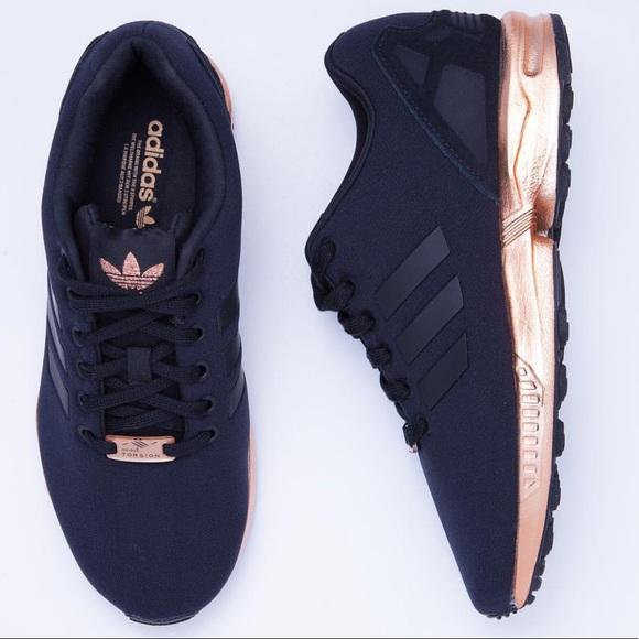 on sale bd1ef f03a7 Adidas Torsion ZX Flux Black Copper Metallic